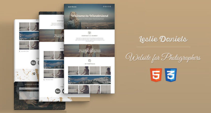 Leslie – HTML Portfolio Page for Photographers