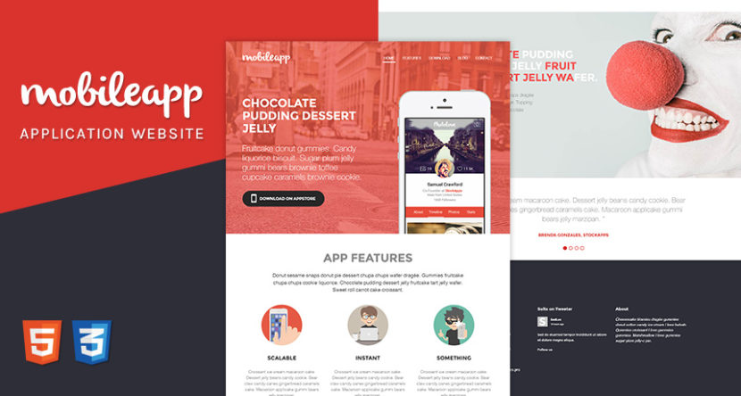 Mobileapp – Application Landing Page HTML Template