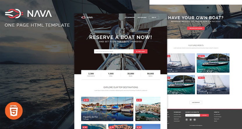 Nava – One Page HTML Template