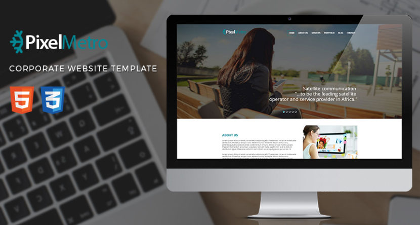 Pixelmetro – Freebie Corporate Website HTML Template