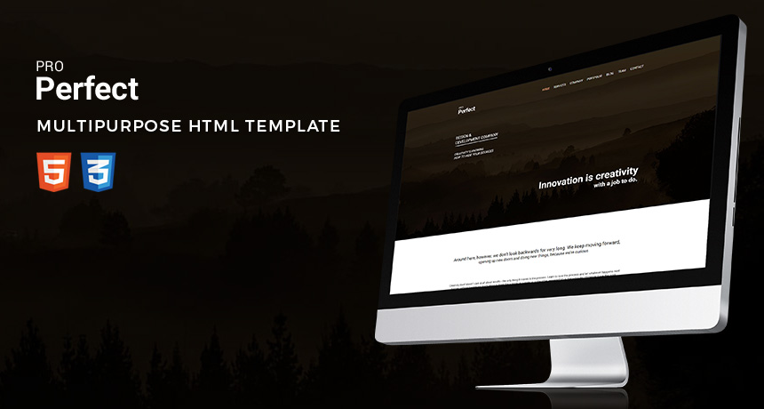 ProPerfect – Multipurpose One Page HTML Template