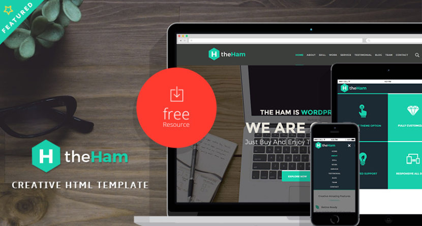 TheHam – Creative Landing Page HTML Template