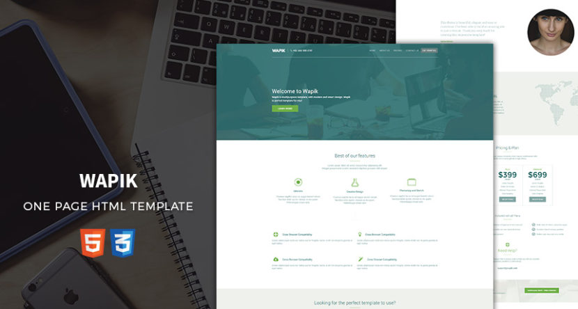 Wapik – One Page HTML Template