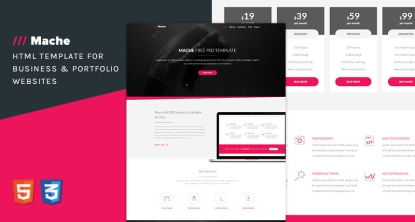 Mache HTML Template for Business