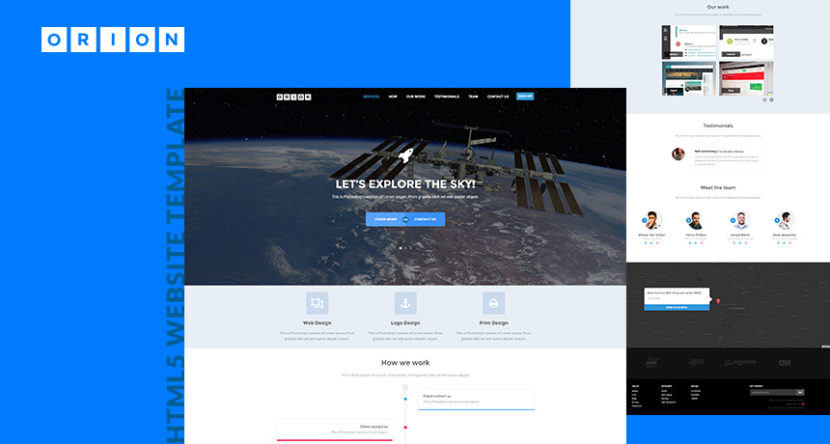 Orion HTML5 Website Template