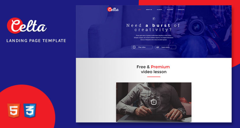 Website Template Archives Free HTML Templates - Free landing page templates html5