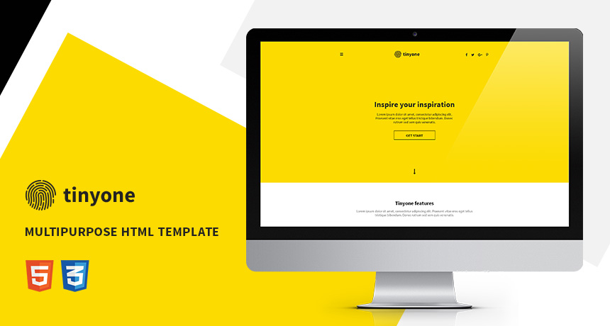 Tinyone onepage multipurpose html template free html5 for 3pl rfp template