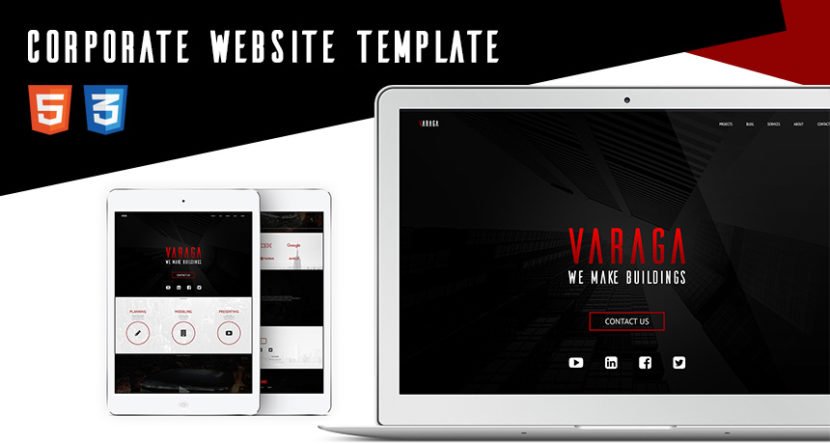 Varaga – FREE Landing Page Website Template