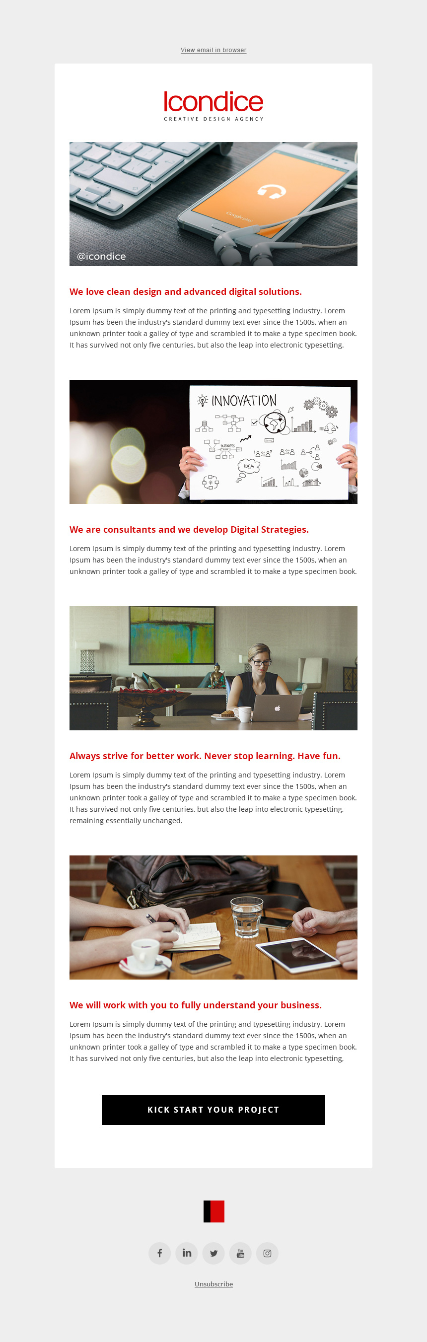 Minimalist Email Newsletter Template PSD HTML Free HTML Templates - How to make email newsletter templates