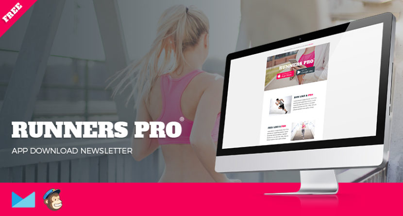 Runners Pro – Free App Download Newsletter PSD + HTML