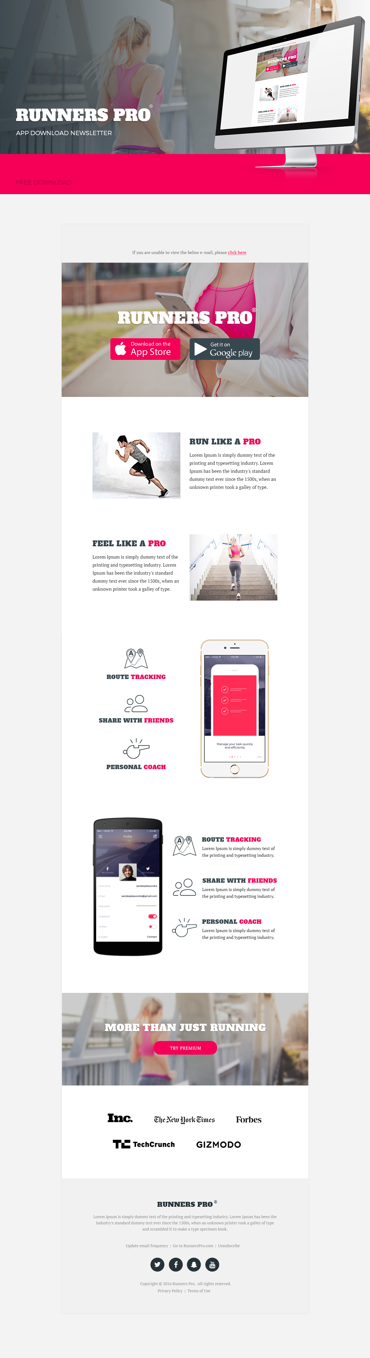 Runners Pro – Free App Download Newsletter